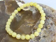 Natural Gemstone Women's Streatchable bracelet 6mm JADE LEMON beads