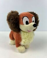 "DISNEY STORE  MICKEY CLUBHOUSE MINNIE MOUSE BROWN PET DOG FIFI 6"" PLUSH SOFT TOY"