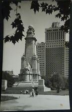 ANTIGUA POSTAL 1956 MADRID PLAZA DE ESPAÑA MONUMENTO CERVANTES POSTCARD  CC04235
