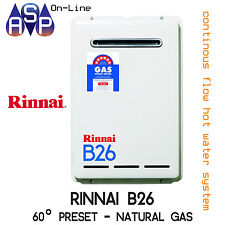 MELBOURNE PICK-UP RINNAI B26 BUILDERS CONTINUOUS HWS - NATURAL GAS 60° - B26N60