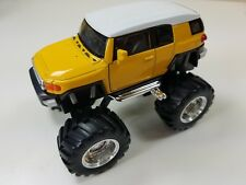 "Welly 4.75"" Monster Truck Big Foot Toyota FJ Cruiser Diecast Car 47003-8D Yellow"