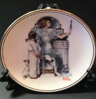 """Going Out""  The Best Of Norman Rockwell - 1983 Mini Collectors Plate"