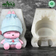 Nicole Silicone Cake Mold 3D Rabbit Cartoon Cute HandCraft Candle Making Rubber
