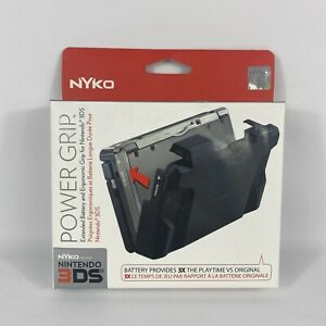 NYKO 3DS Power Grip - 3X Playtime, Extended Battery, Ergonomic Grip - NEW RARE