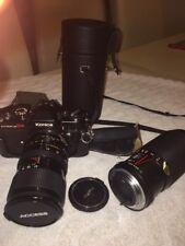 Konica Autoreflex T4 Camera And Konica Lens Zoom 80-200 Mm F4