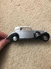 Solido 1/43 Scale - 4046 - Rolls Royce Phantom III - Silver W/ White Roof Loose