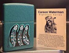 Zippo THREE SISTERS / IROQUIS Carson Waterman (Indian Arts) RARITÄT von 2001