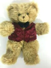 "Harrods of London Knightsbridge Plush Blond Teddy Bear Hand Puppet 14"" Tall"