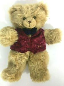 "Harrods of London Hand Puppet Knightsbridge  Plush Teddy Bear  Blond 14"" Tall"