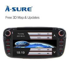 "7"" Ford Focus/Mondeo/S-Max Radio Car 2 Din Stereo DVD Player GPS Sat Nav SWC BT"