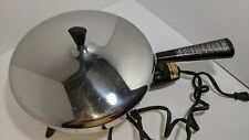 "Vintage Farberware 10-1/2"" Electric Stainless Steel Fry Pan Skillet 300A Works"