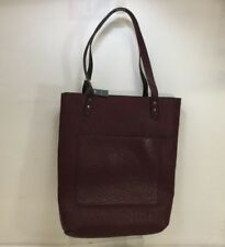 Abercrombie And Fitch Black Burgandy Reversible Faux Leather Tote