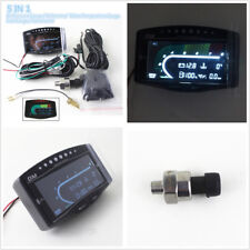 Car Truck 5 Function LCD Oil Pressure+Voltmeter+Water Temp+Fuel Gauge+Tachometer