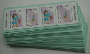1989 Türkisch-Zypern; 50 Markenheftchen Europa, postfrisch/MNH, MH 2, ME 650,-