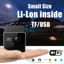 Mini Pocket Projector Bluetooth Android DLP WiFi HD 1080P Home Cinema Theater UK