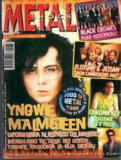 METAL SHOCK N°281/1999 MALMSTEEN FLOTSAM & JETSAM BLACK CROWES CHROMA KEY
