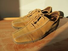 ECCO TAN SUEDE LEATHER LADIES LACE UP TRAINER STYLE COMFORT SHOES SIZE 6.5 UK 40