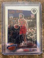 2019-20 NBA Hoops Premium Stock Coby White Rookie Tribute # 295 Bulls Base RC
