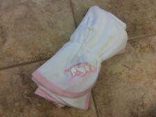 Arkansas Razorbacks New Born/Infant Blanket White with Pink Trim