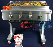 4 BURNER GAS CHARCOAL CHAR GRILL BBQ HEAVY DUTY FOR COMMERCIAL OR DOMESTIC USE