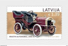 LATVIA / LETTLAND 2017 old car  history automobile 1903  MNH