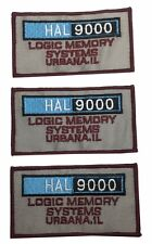 "2001 Space Odyssey Hal 9000 Logic 4"" Wide Embroidered Patch Set of 3 Patches"