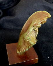 "Bronze Lost Wax  Cast  ""Lobster Claw on Stand""  Decorative Sculpture Fine Art"