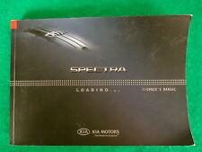 2007 07 Kia Spectra Owners Manual  Near New  C19C