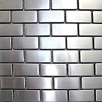 Brick Stainless Steel Mosaic Tile Backsplash Bath