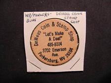 Parkersburg, West Virginia Wooden Nickel token - DeWees Coin & Stamp Wooden Coin