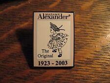 Madame Alexander Pin - 2003 Anniversary Madame Alexander Doll Lapel Hat Pin