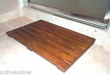 Teak Bathroom Floor Mat / Doormat * Easy to Clean and Dry * High Quality Wood