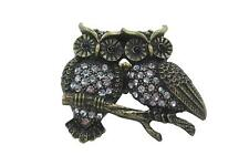 Owl Ring Vintage - Owl Couple - Two Owls on Branch Fashion Ring