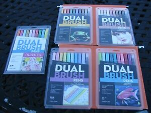Brand New - 5 Packs - TOMBOW Dual Brush Pens  (Total of 50 Pens) -  SEALED