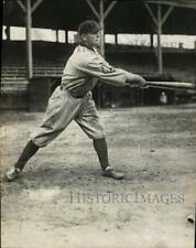 1917 Press Photo Major league baseball player Herman Bronkie takes a swing