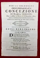 Rarissime Corse 1811 Bastia Berlingeri Confraternita Affiche Corsica Batini
