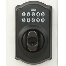 Schlage Touch Camelot Touchscreen Keypad Deadbolt Aged Bronze BE365 V CAM 716