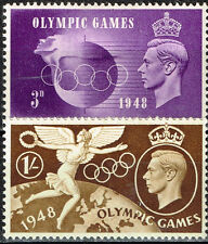 UK Sport Summer Olympic Games London rare classic stamps 1948 MLH
