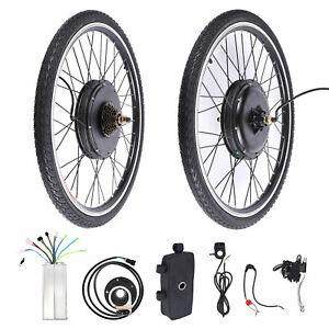 "26"" Electric Bicycle Conversion Kit E Bike Rear Wheel Motor Hub 1000W 48V UK"