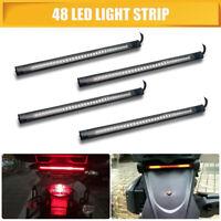 4* 17 LED Tail Light Flexible DRL Strip Turn Signal Indicator Running Motorbike