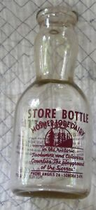 Mother Lode Dairy STORE Milk Bottle Sonora Angels Camp Ca California