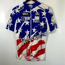 New listing Aussie Jersey Men's Large Bike Shirt Full Zip Pouches Wolverine Sports Club Bell