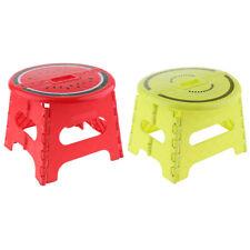 2pcs Multi-purpose Foldable Step Stool Folding Kitchen Stools Green-S Red-L