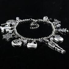 USA Stock The Nightmare Before Christmas Jack Skellington Sally Gothic Bracelet