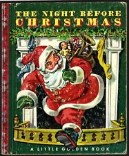 Vintage Little Golden Book ~ THE NIGHT BEFORE CHRISTMAS ~ #20 Red Foil