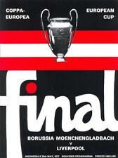 1977 EUROPEAN CUP FINAL LIVERPOOL v BORUSSIA MUNCHENGLADBACH