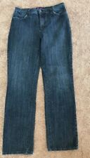 "NYDJ Sz 10 Inseam 30"" Cotton Blend Straight Leg Denim Classic Rise"