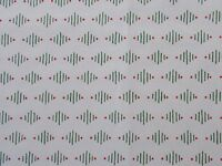Cream Green Red Christmas Quilting Fabric Cotton Sewing By the Yard Fat Quarter