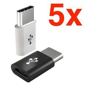5x Micro USB Adapter auf USB C Adapter Datenkabel Ladekabel Huawei Samsung NEU