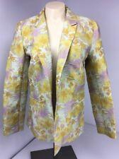 Yellow Floral Boyfriend Blazer ASOS jacket Embroidered Easter NWOT US-10 UK-14